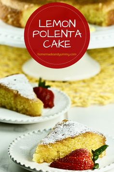 Lemon Polenta Cake is a classic gluten-free lemon cake. A citrus cake that is perfect for dessert any day of the week. #homemadeandyummy #polentacake #lemoncake #lemondessert #glutenfree #italiandessert