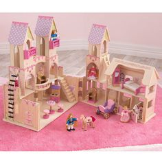 ✅ Kid Kraft Princess Castle comes with everything! Wooden dolls, horses, house accessories,  and it opens and closes for total fun immersion! Doll houses have come a long way since I was a kid. {affiliate }