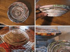 Coiled Magazine Paper Bowls | 10 DIY Rolled Paper Crafts From Recycled Magazines