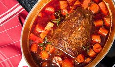 This braised beef shank makes for a heart, no-fuss meal. Pot Roast Recipes, Slow Cooker Recipes, Paleo Recipes, Crockpot Recipes, Venison Recipes, Paleo Food, Italian Pot Roast, Best Pot Roast, Savory Herb