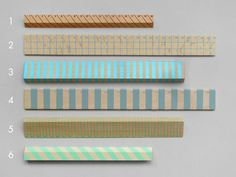 Striped Wooden Rulers