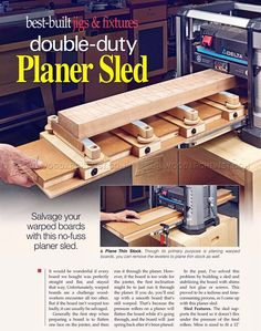 #1287 Planer Sled Plan - Planer Tips, Jigs and Fixtures