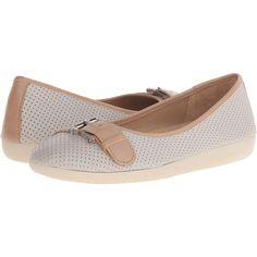 Naturalizer Kiara (Pearl Grey Nubuck/Ginger Snap Leather) Women's Flat.