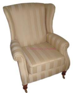 Parker Knoll York Chair, The Isle Mill Regency Stripe fabric