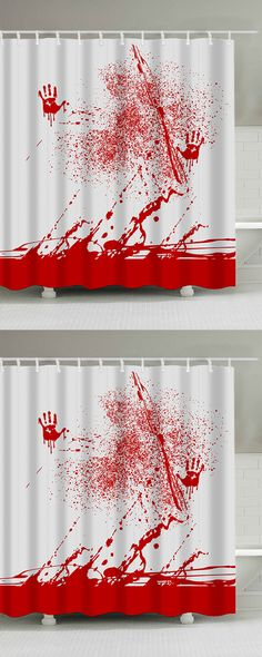 Blood Splatter Print Waterproof Bathroom Shower Curtain