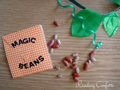 Reading Confetti: Magic Beans  Why should Jack be the only one who grows a magic beanstalk? :)  Check out my favorite version of Jack & the Beanstalk at www.ReadBarefootWithMe.com