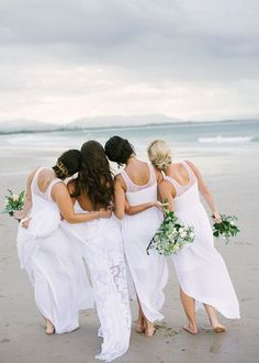 all white destination wedding