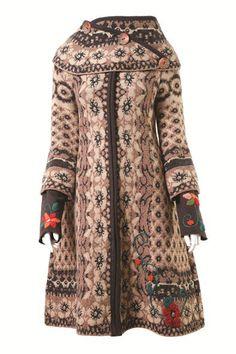 Ivko coat in brown wool