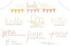 l u l a b e l l e blog: Six Lovely FREE fonts!