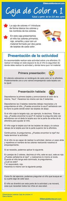 Aprender Los Colores - Presentación Caja de Color N1 Montessori | El Metodo Montessori
