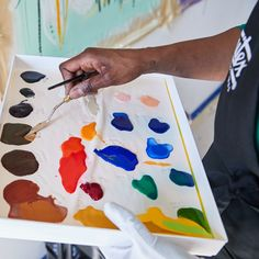 Pigments that pop on the palette. Which colors are on yours today? Liquitex, Gouache, Plastic Cutting Board, Palette, Pop, Colors, Painting, Popular, Pop Music