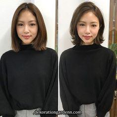 Image may contain: 2 people Korean Short Hair, Short Thin Hair, Long Hair With Bangs, Short Hair Cuts, Haircuts For Medium Hair, Medium Hair Styles, Long Hair Styles, Asian Bob Haircut, New Hair Do