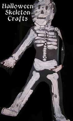 Halloween Skeleton Crafts    Great for learning about the bones!
