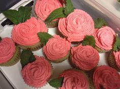 Derby day mint julep cupcake.