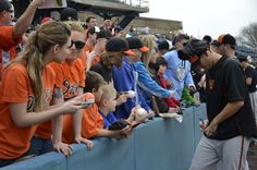 Orioles players signing autographs for fans at the exhibition game at Harbor Park! Harbor Park, Sumo, Fans, Wrestling, Sports, Lucha Libre, Hs Sports, Followers, Sport