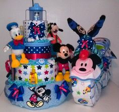 #disney diaper cake mickey mouse or minnie mouse design #baby shower centerpiece from $160.0