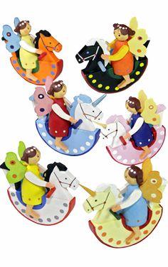 Graupner Fairies on Horse Ornament