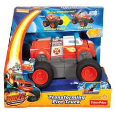 Fisher-Price Nickelodeon Blaze And The Monster Machines Transforming Fire Truck Blaze   Toys R Us Australia