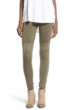 BP. Stretch Cotton Moto Leggings available at #Nordstrom