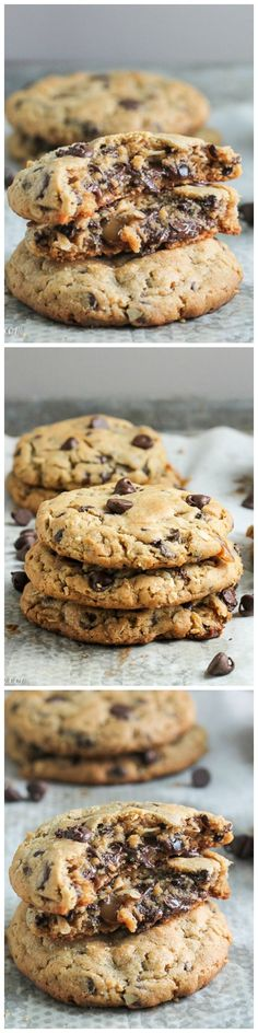 These Peanut Butter Chocolate Chip Caramel Filled Cookies have a chocolate covered caramel in the middle!