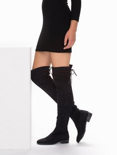 Flat Thigh High Boot - Nly Shoes - Black - Everyday Shoes - Shoes - Women - Nelly.com Uk
