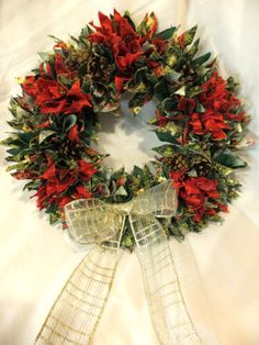 Rag rugged Christmas Garland