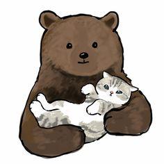 Kitten Drawing, Cute Cat Drawing, Cute Animal Drawings, Cute Drawings, Cute Little Kittens, Kittens Cutest, Cute Cats, Wallpaper Gatos, Cat Wallpaper