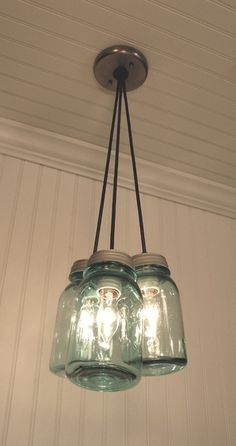 Mason jar chandelier - I bet daddy could make this! by KRLN