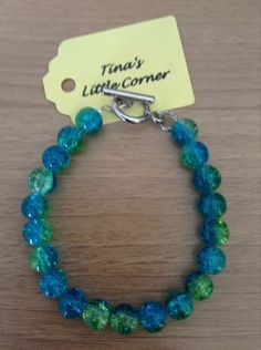 A personal favorite from my Etsy shop https://www.etsy.com/listing/294350987/green-blue-bead-bracelet