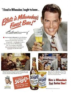 Fred Mac Murray ad for Blatz Beer