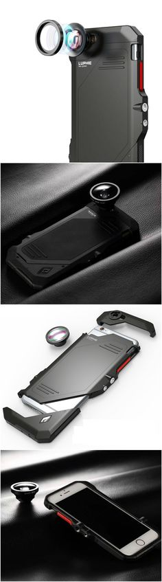 Newest iPhone 6 6S Plus fashion fish eye wide angle lens slim case with style for the savvy users. Fits well into workout and gym clothes. Great gift home accessory products for Apple iPhone 7 Plus ow (Tech Gifts Apples)