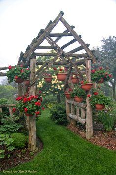 Garden Elements... the west arbor | Conrad Art Glass & Gardens