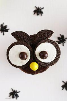 Owl Cupcakes Para Halloween | MadridBloguea http://madridbloguea.blogspot.com.es/2014/10/owl-cupcakes-para-halloween.html