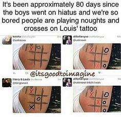Noughts & crosses? I thought it was tic tac toe<<<they call it noughts and crosses in the uk but OMG AHAHHAAH WE'RE SO BORED COME BACK BOYS WE MISS U SM