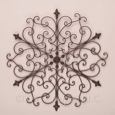 "Wrought Iron Wall Hangings wrought iron wall art | home > marin 32"" round wrought iron wall"