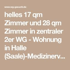 helles 17 qm Zimmer und 28 qm Zimmer in zentraler 2er WG - Wohnung in Halle (Saale)-Medizinerviertel