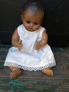Vintage 1959 Effanbee Black Baby Doll Adorable by VintiqueVillage, $72.00