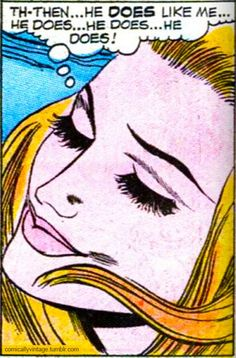 """Vintage Comic, Pop Art I'd do it with something tongue-in-cheek like """"so lipstick lesbians DO exist!"""""""
