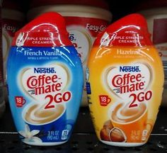Nestle ~ Coffee-mate 2 Go Triple Strength Liquid Creamers ~ Your Choice! This and now Stevia and Splenda for my purse! This is great!