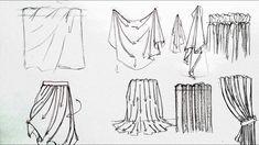 как рисовать складки