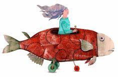 Fish Art, Illustration Art, Christmas Ornaments, Holiday Decor, Diy, Inspirational, Artists, Home Decor, Illustrations