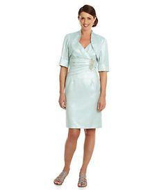 KM Collections Metallic Surplice Jacket Dress | Dillard's Mobile