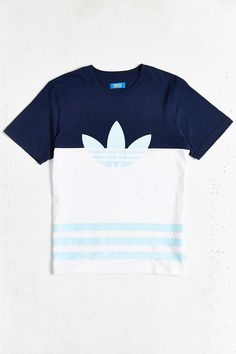 813ca1b5a1d914 adidas Originals Colorblock Trefoil Tee - Urban Outfitters