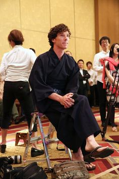 Benedict Cumberbatch <- - - - - - Totally pined this because one he was in Japan when this was taken and two he looks really hot in that robe. XD