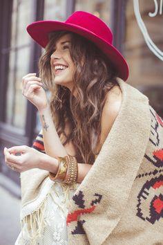 Sim! Estou a sonhar com um chapéu verde e uma manta de lã!
