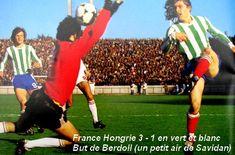 10 juin 1978 à Mar del Plata FRANCE - HONGRIE : 3-1 (3-1) 28 000 spectateurs/Arbitre : M. Coelho (Brésil). Buts : Lopez (22e), Berdoll (37e), Rocheteau (42e) pour la France; Zombori (41e) pour la Hongrie. FRANCE : Dropsy - Janvion, Lopez, Trésor, Bracci - J. Petit, Bathenay, Papi (Platini, 46e), Rocheteau (Six, 75e), Berdoll, Rouyer. HONGRIE : Gujdar - Martos, Balint, Kereki, J. Toth, Nyilasi, Pinter, Zombori, Pusztai, Torocsik, Nagy (Csapo, 73e).