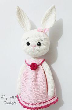 PATTERN-Amigurumi Cracker Girl Bunny by TinyMiniDesign on Etsy
