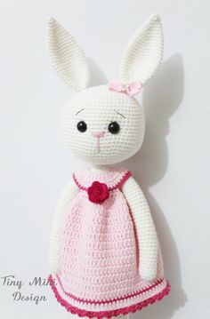 PATTERN-Amigurumi Cracker Girl Bunny by TinyMiniDesign on Etsy