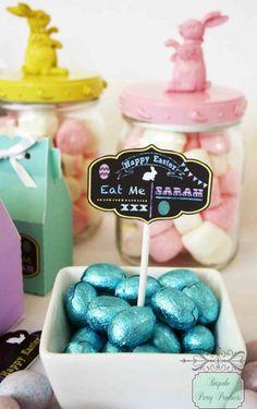 Flourish chalkboard cupcake topper