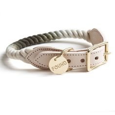Olive Ombre Rope Collar- Found My Animal